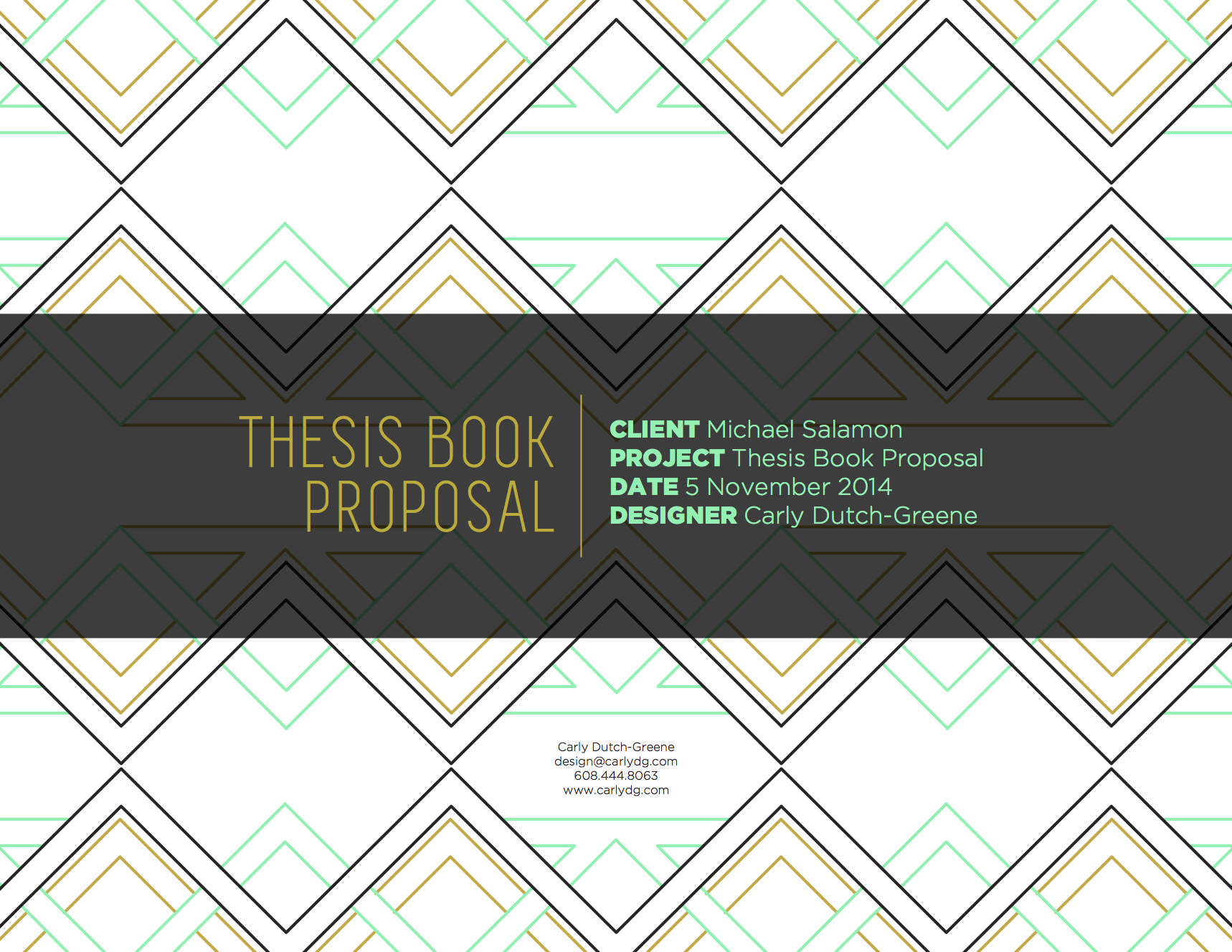 thesis process book template proposal